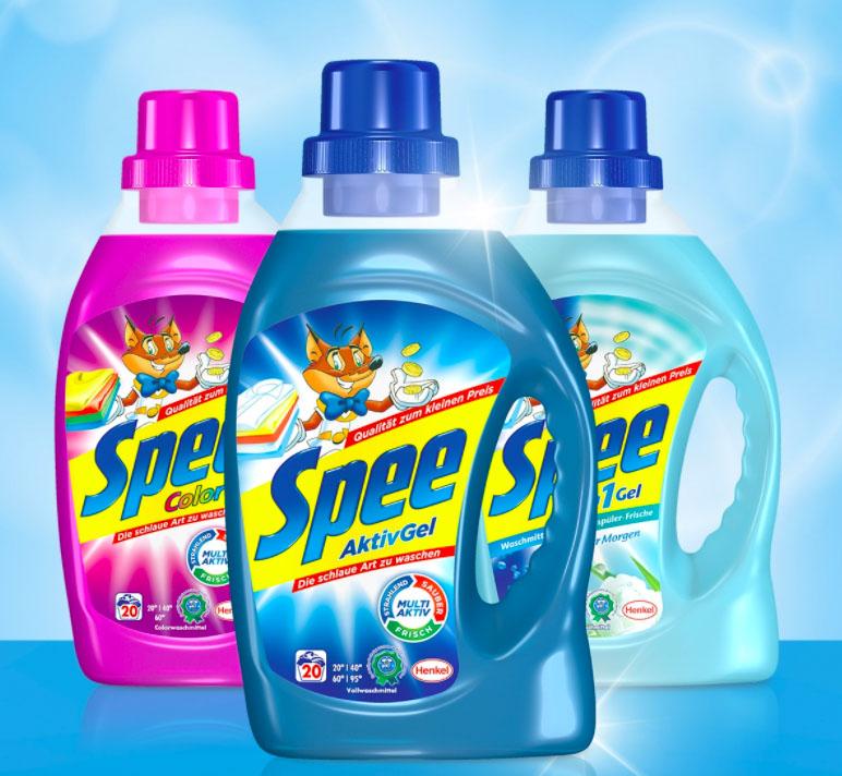 Spee Waschmittel gratis testen - GzG