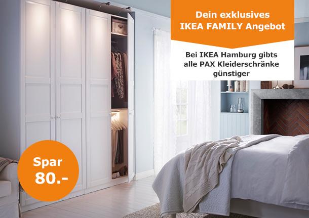IKEA FAMILY [Lokal Hamburg] PAX (236 cm Höhe) pro Meter bis zu 40€ sparen