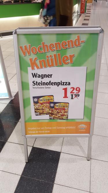 (globus) Wagner steinoffenpizza für 1.29€