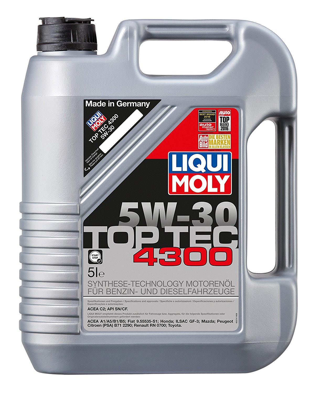 [Amazon / ebay] Liqui Moly 3741 Top Tec 4300 Motoröl 5 W-30 5 Liter