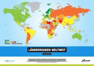Gratis Länder-RisikoWeltkarte