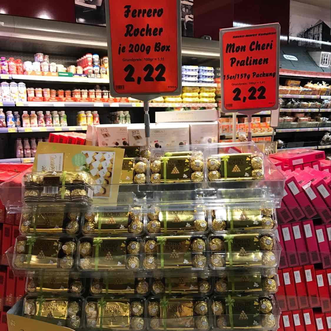 Ferrero Rocher 2,22€ bei Edeka