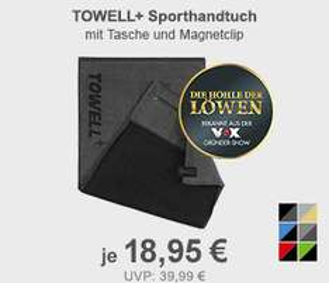 """Towell+ Sporthandtuch von """"Die Höhle der Löwen"""", versch. Farben"""