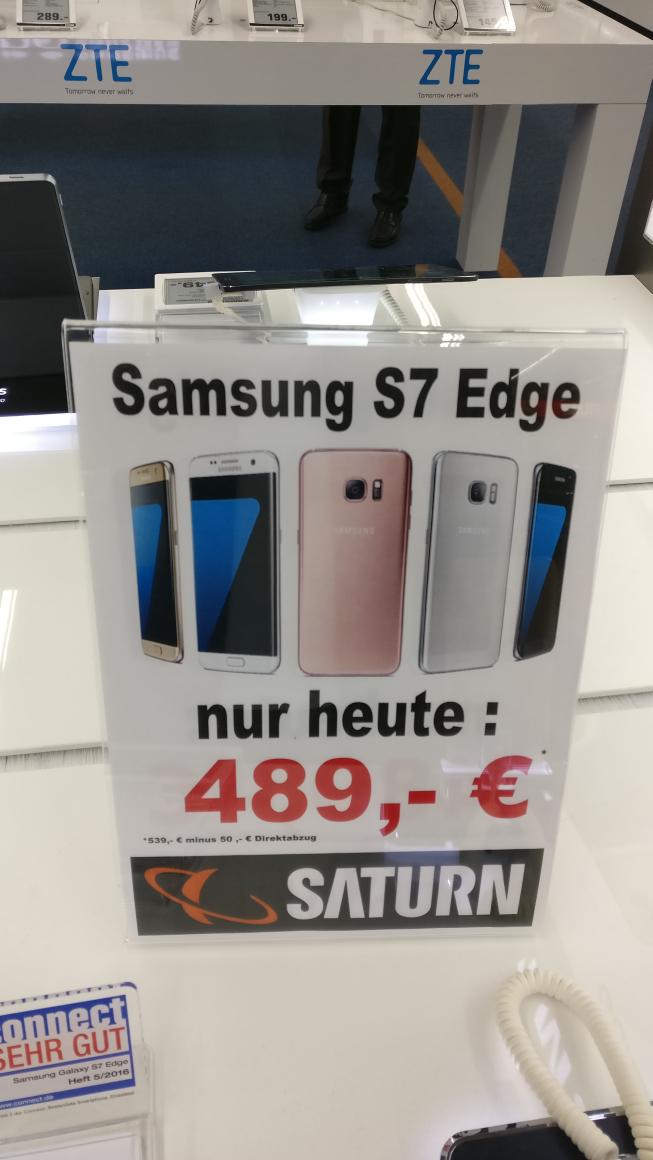 (Lokal Saturn Siegen ) Samsung S7 Edge für 489€