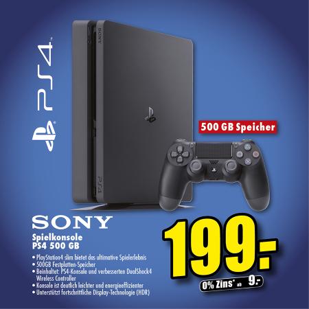PS 4 slim 500 GB für 199 € bei flösch in emmendingen und müllheim