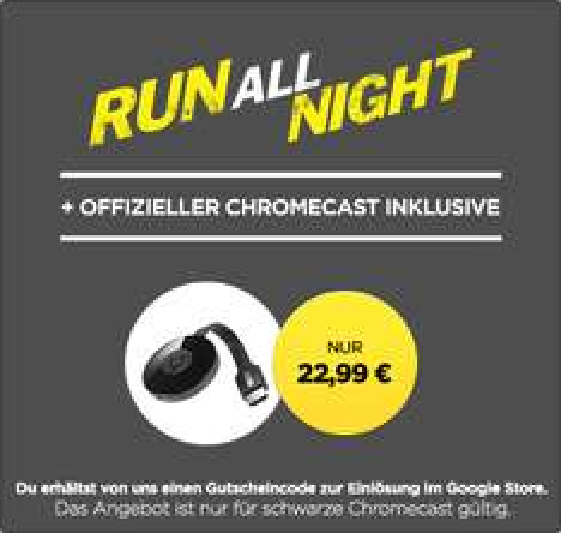 Chromecast 2 nochmal günstiger (inkl. Run All Night HD) bei Wuaki