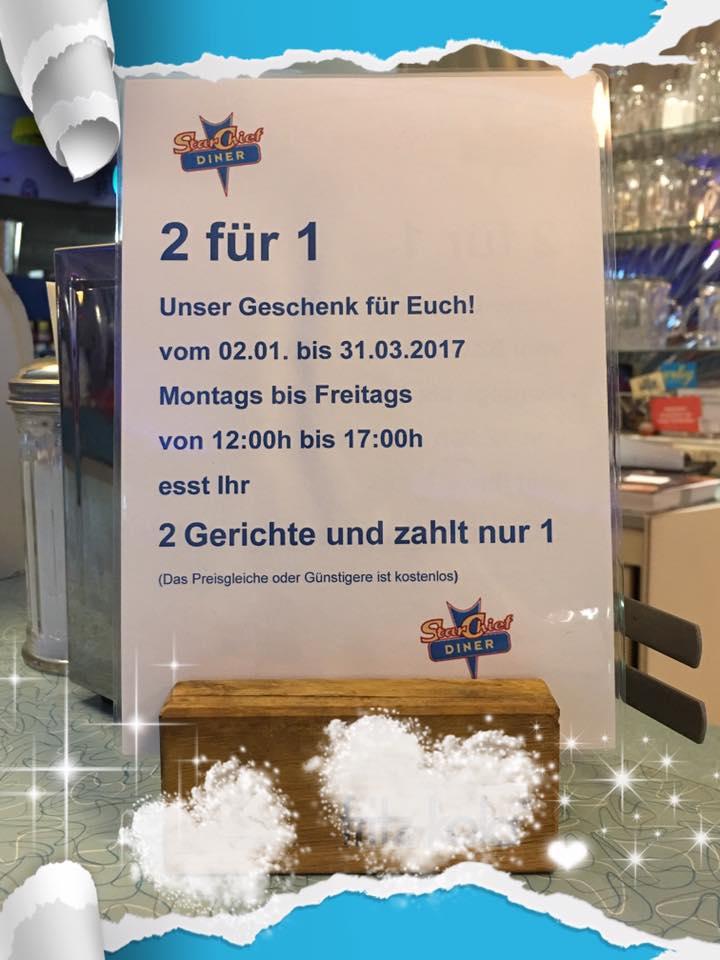 StarChief Diner Gelsenkirchen 2 Für 1 Aktion!