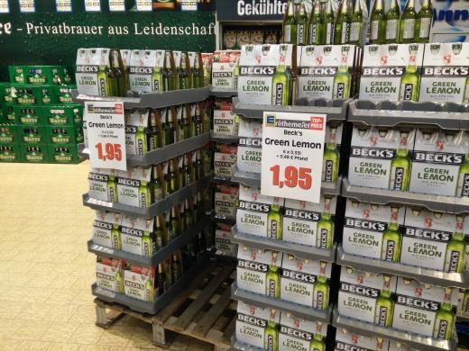 [Minden] 6x Becks Green Lemon für 2.48€