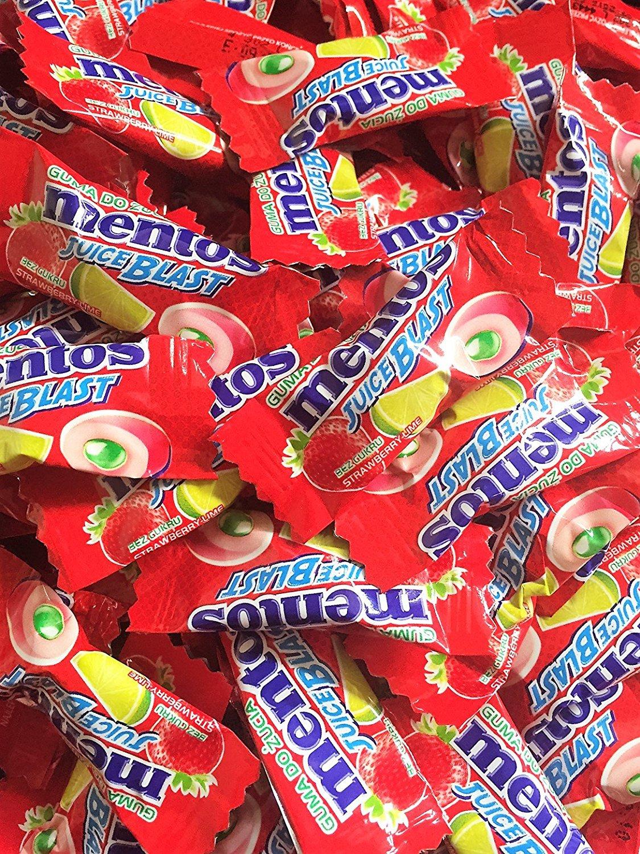 [Weg-Ist-Weg.com] Mentos Juice Blast Erdbeer/Zitrone oder Pure Fresh Mint - 500 Stück einzeln verpackt für 9,99€ inkl. Versand / 1000 Stück für 19,99€