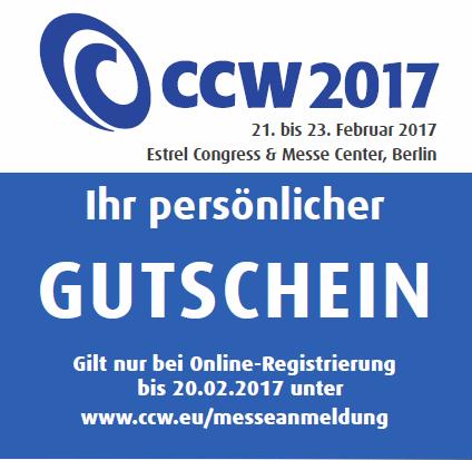 [Berlin] Kostenlose Tageskarte für die CCW Messe 2017