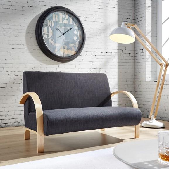 2er Sitzbank mit Leinenbezug in Grau für 72,95€ inkl. Versand (Mömax)