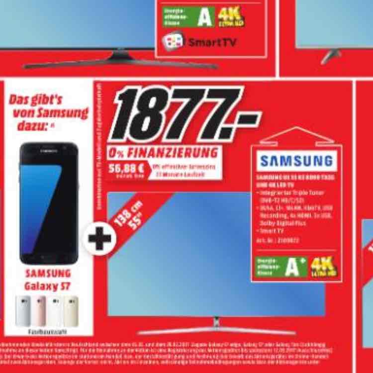 [ Lokal ] MM Mülheim a.d Ruhr - Samsung 55KS8090 + Galaxy s7 für 1877