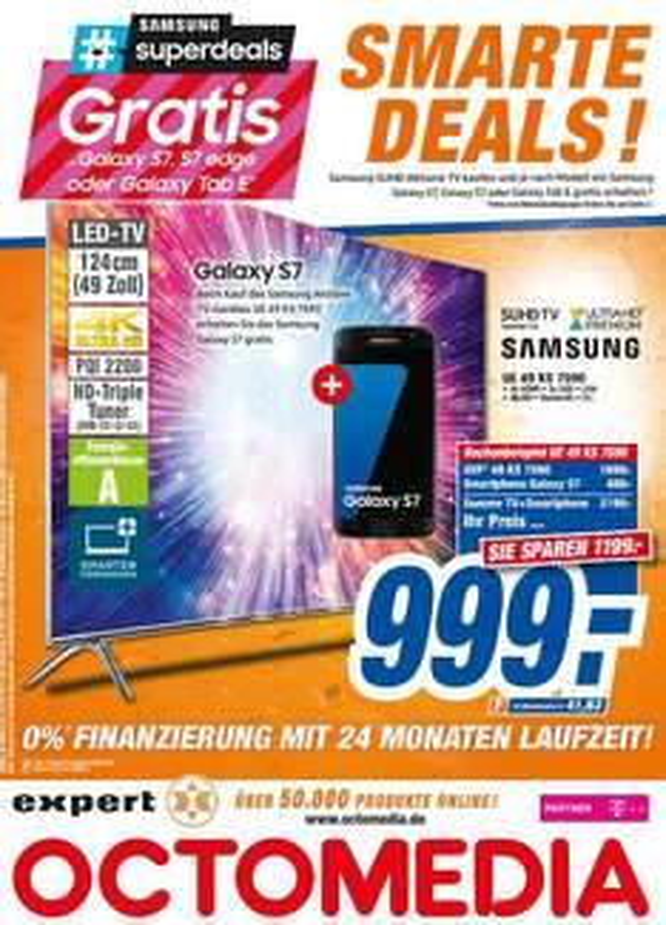[lokal Rastatt/Bühl BW] Samsung Superdeals @ Expert Octomedia - bspw. UE49KS7590 + Galaxy S7