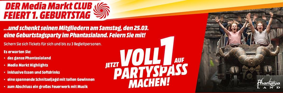 Gratis Phantasialand-Eintritt für bis 4 Personen am 25.03.2017 als MediaMarkt Club Mitglied inkl. Essen und Getränke
