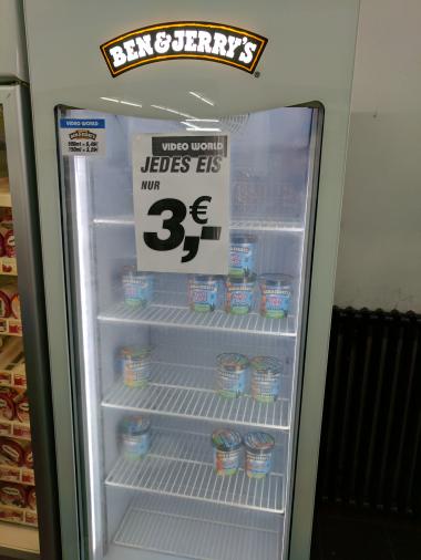 Ben & Jerry Eis für 3€ bei Video World (Berlin / lokal?)