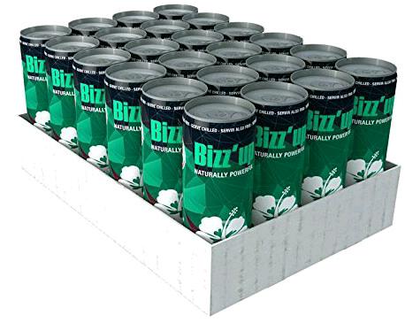 (Amazon) Bizz Up Minze Erfrischungsgetränk - 24 x 250 ml Dosen, 15,64€ (zzgl.  6€ Pfand) statt 28,56€