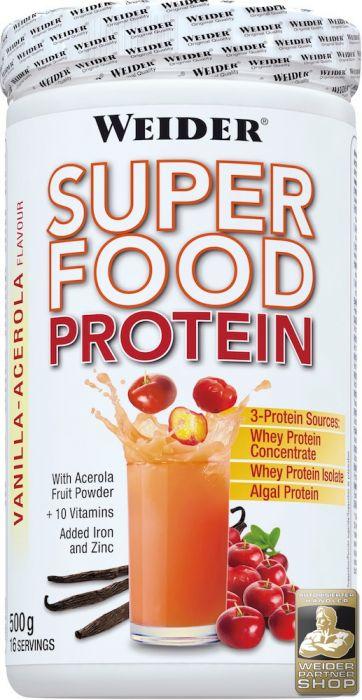 Weider Superfood Protein, Vanille-Acerola (1 x 500 g) MHD 27.3.2017 (Amazon Plus Produkt!)