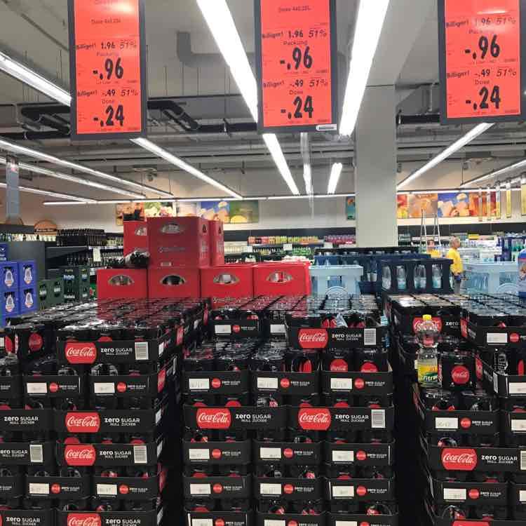 Coca Cola Zero Dosen für je 0,24€ bei Kaufland Kamp-Lintfort (Palettenweise) 0,25l