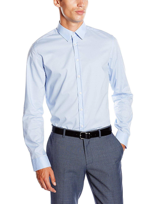 Seidensticker Hemd UNO Super Slim Stretch in blau für 17,95€ inkl. Versand bei ebay