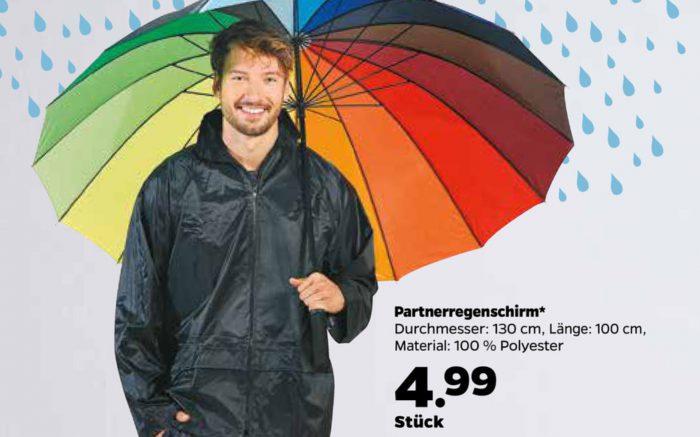 [Wieder da ab 20.2.17] Partnerregenschirm für 4,99€ Durchmesser: 130 cm [Netto mit Hund]