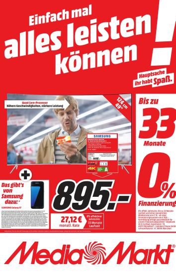 [Lokal Media Markt Weiden/Amberg] Samsung UE49KS7590 + GALAXY S7