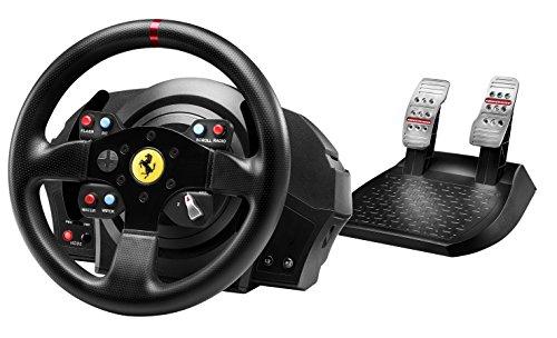 """[amazon.de + Conrad] Thrustmaster T300 Lenkrad mit """"Ferrari GTE Wheel"""" + 2er-Pedalset  - ca. 14% (39 EUR) Ersparnis - mit shoop.de oder Gutschein ggf. mehr"""