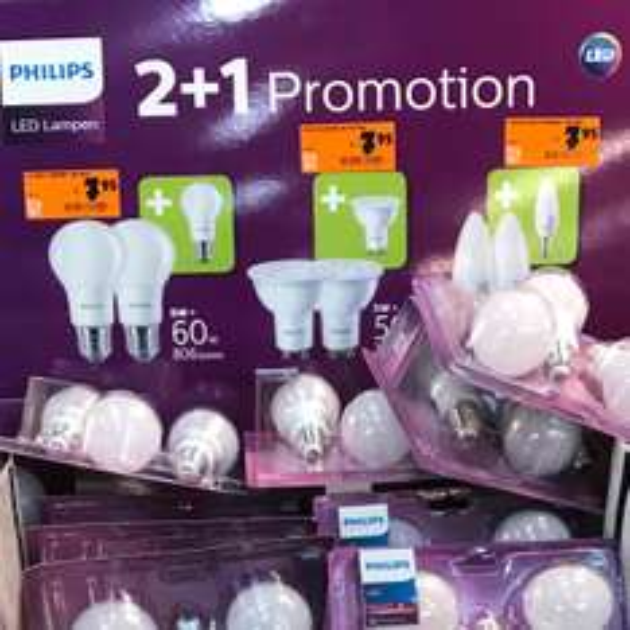 [ Hornbach Vogelsdorf ] Philips 3x 8w Led E27 806 Lumen