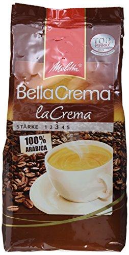 Melitta Ganze Kaffeebohnen 1000g, 100 % Arabica, mittlerer Röstgrad, Stärke 3, BellaCrema la Crema [Amazon Prime Sparabo + Coupon]