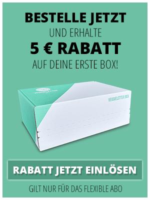Veggieletter Box (Vegane Abo Box) 5 € Rabatt und 4,95 € Bonusprodukt auf die erste Box => 35 € Lebenmittel für 20 €