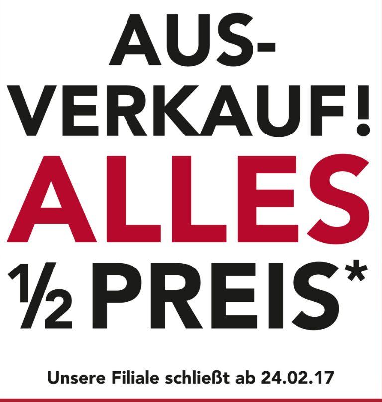 [Lokal Monheim Kaiser´s) Filialschließung...*Fast* alles zum halben Preis.Nur vom 22.02 - 23.02