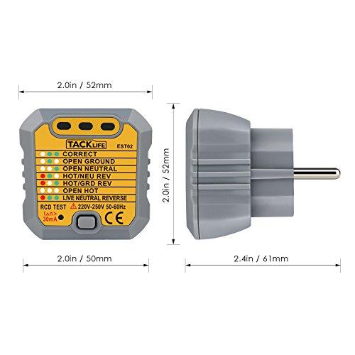 Steckdosen Tester Automatischer Stromkreis-Detektor Polaritätsprüfer für Leiter  -59% Rabatt