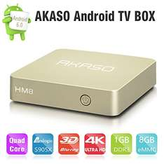 AKASO HM8 Android 6.0 TV Box 1GB DDR3 8GB EMMC [Amazon Prime]