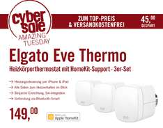 3x Elgato Eve Thermo - (Apple HomeKit) für 149€ @ Cyberport