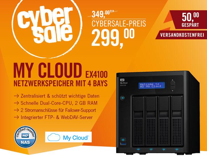 [Cyberport] Western Digital Diskless My Cloud EX4100 Expert Series 4-Bay NAS  - LAN - WDBWZE0000NBK-EESN