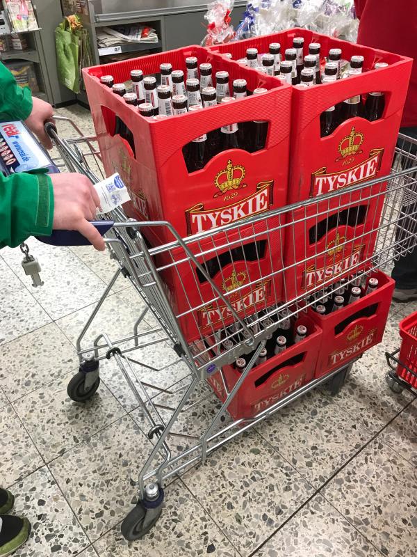 TYSKIE Bier Piwo Kasten 20 x 0,5 l @REAL 10,99€