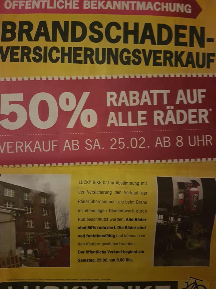 50% Rabatt auf alle Räder - Lokal@Luckybike Chemnitz
