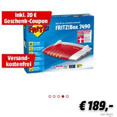 Fritzbox 7490 für 189€ inkl. 20€ Coupon (effektiv 169€)