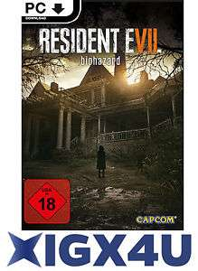 [ebay plus] Bestpreis Resident Evil 7 26 € statt 31 € Biohazard VII Key [PC Spiel] STEAM Download Code DE/EU NEU