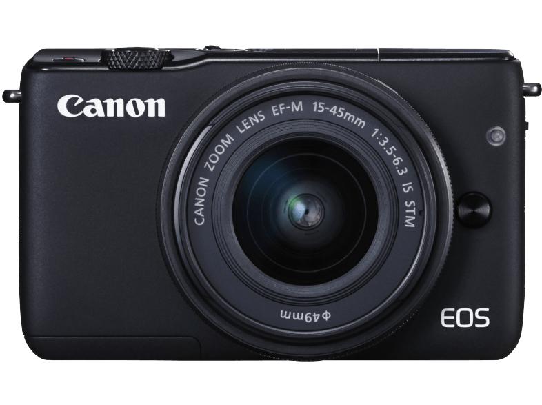 CANON EOS M10 STM Kit Systemkamera 18 Megapixel mit Objektiv 15-45 mm f/3.5-6.3, 7.5 cm Display Touchscreen