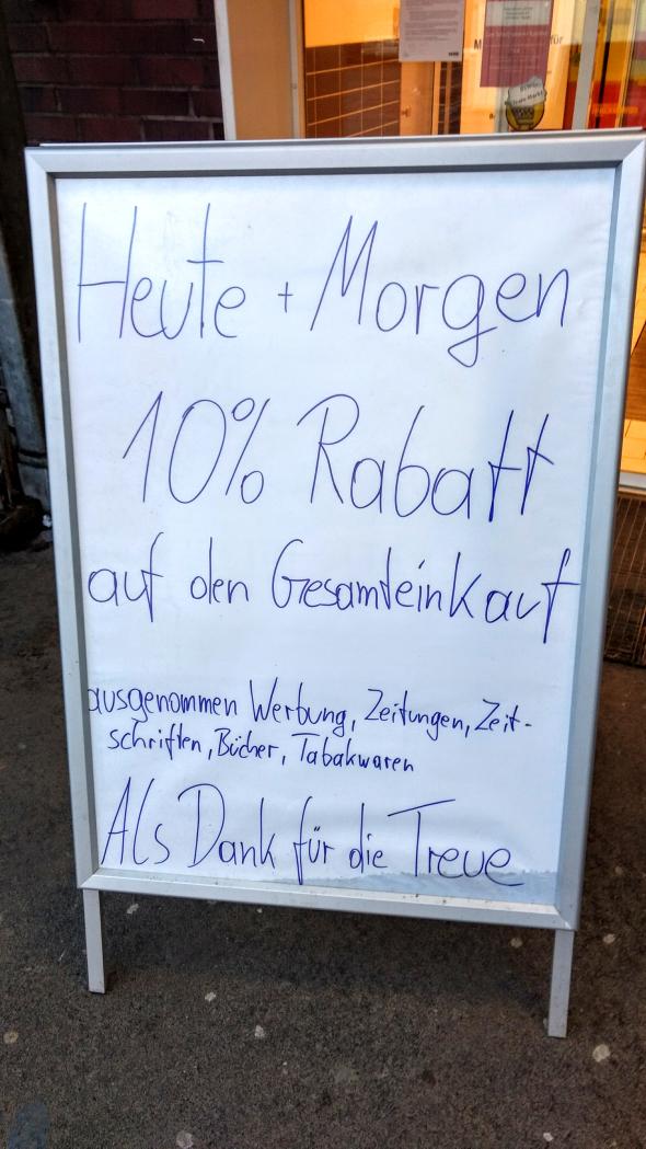 (BLN-Neukölln) Rewe Weserstr - 10% Rabatt (mit Ausnahmen)
