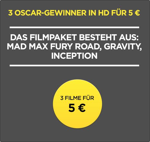 WUAKI: 3 Oscargewinner in HD -- 3 Filme für 5 EUR  (bis 27.2. befristet & 1.000 Stück)