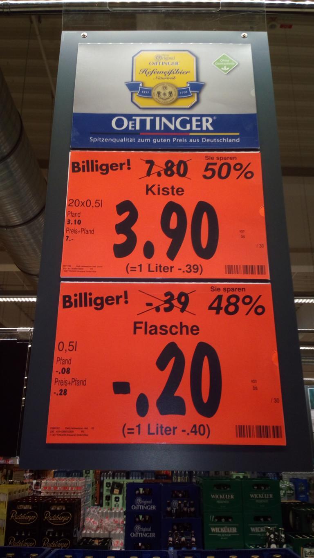 [Kaufland Rüsselsheim] - Oettinger Weissbier Euro 3,90 pro Kiste / 50 % reduziert