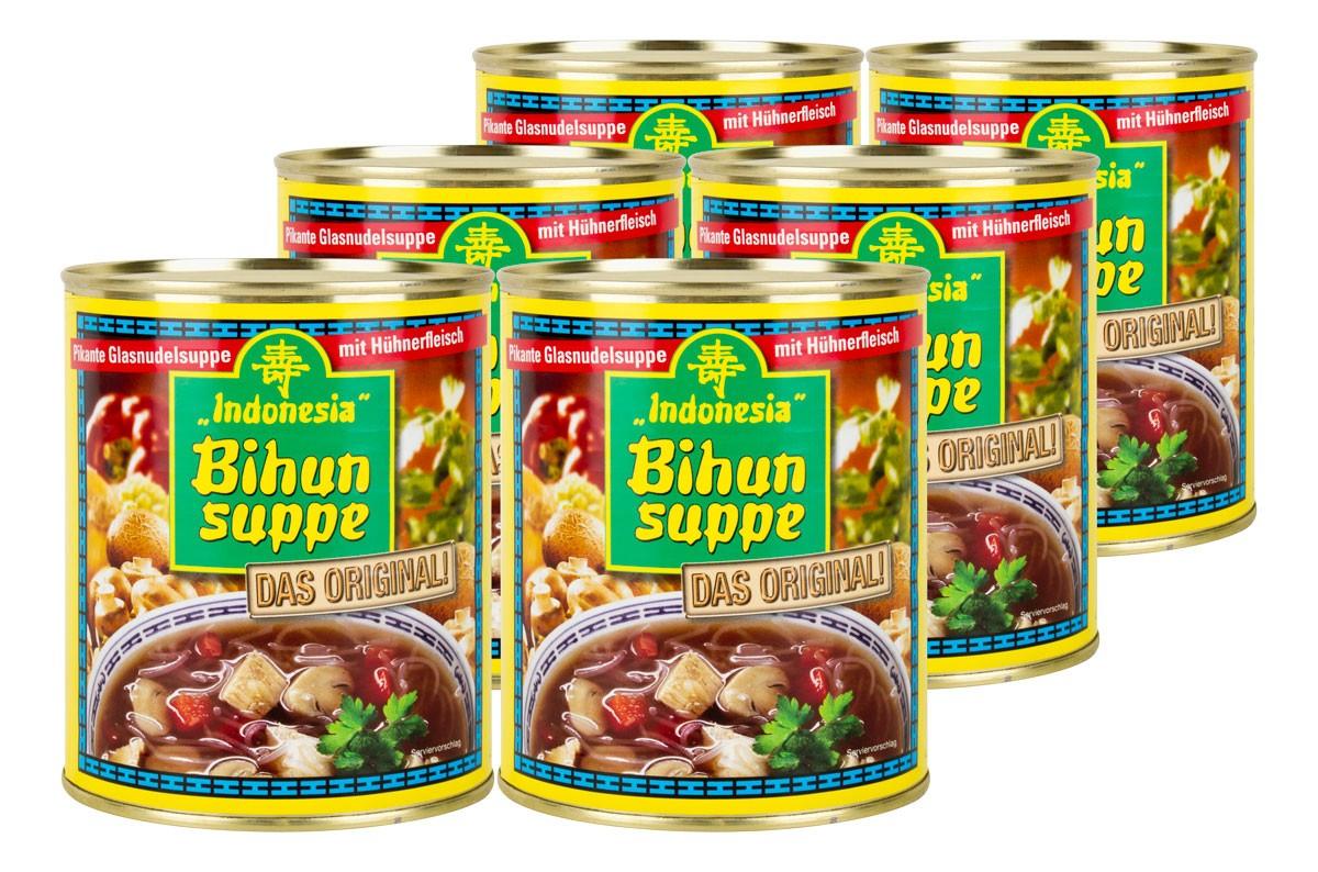 6x Bihun Suppen-Dosen 850ml (5,1 Liter) für nur 10€ [WIGLO MV/SA]