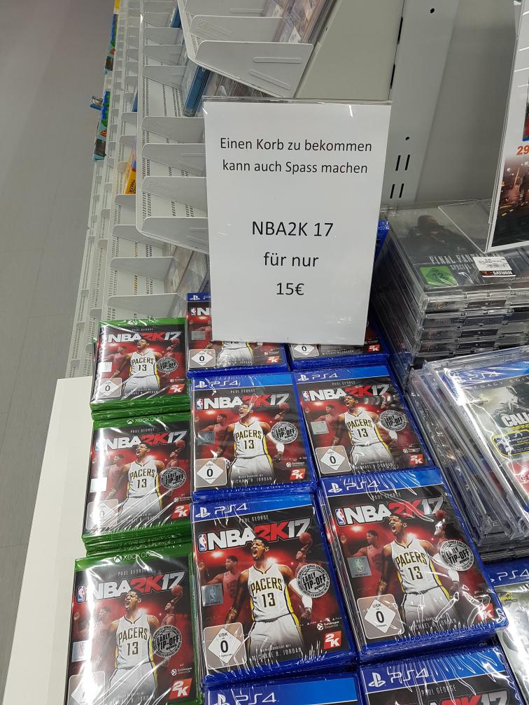 NBA 2k17 für ps4 oder xbox one im Saturn Braunschweig