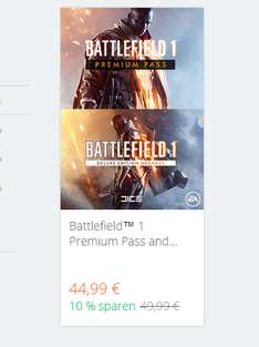 [Alternate-Masterpass-Origin ]Battlefield™ 1 Premium Pass and Deluxe Upgrade Bundle