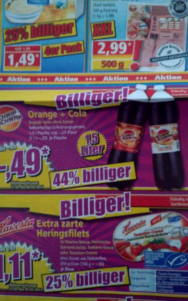 Schwip Schwap 1,5 Liter für 0,49€ bei Norma