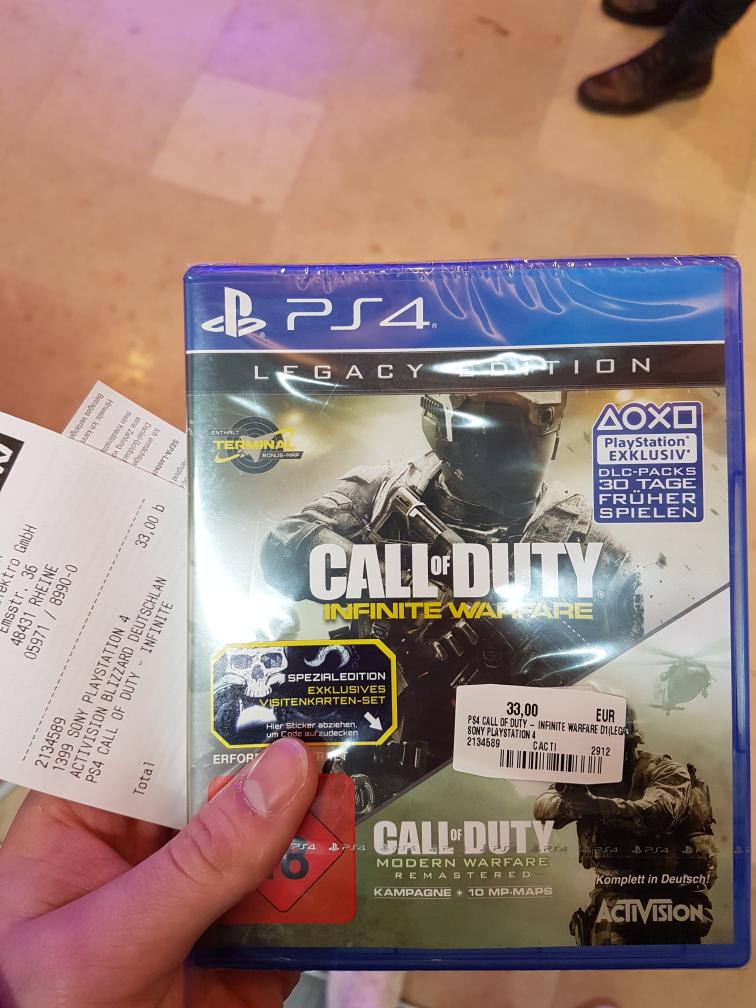 [Lokal] Call of Duty Infinite Warfare - Legacy Edition  Media Markt Rheine