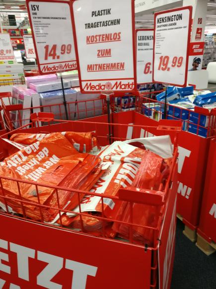 [LOKAL Media Markt Aalen] Plastik Tragetaschen