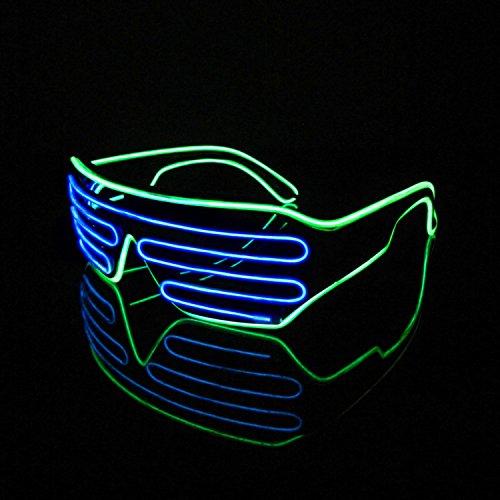 LED Neon Party Leuchtbrille in verschiedenen Farben Reduziert!