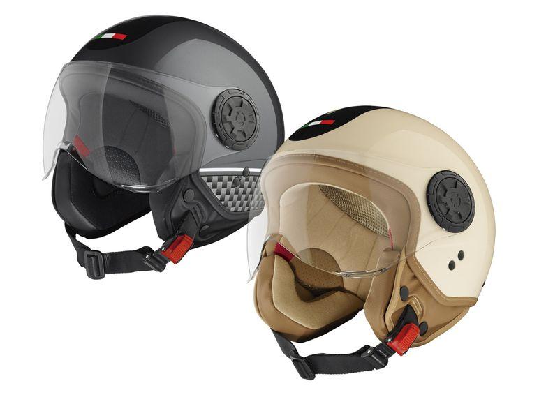 LIDL Roller/Motorrad Helm Jethelm zwei Varianten ab 27.02 ab 29.99€